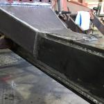 Laser bucket drawbar upgrade to accommodate larger tractor